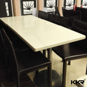 Stain Resistance Solid Surface White Marble Coffee Table Top pictures & photos