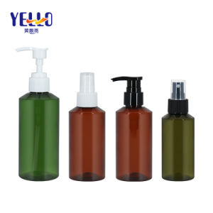 Cosmetic Packaging Plastic Green Amber 100ml 150ml 200ml Empty Shampoo Lotion Bottle with Pump