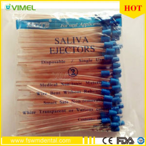 Disposable Dental Check Saliva Ejector with Sterilization Suction Tube pictures & photos