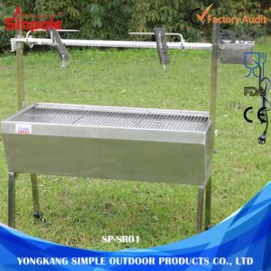Restaurant Chicken Charcoal Rotisserie BBQ Grill Machine with Barbecue Accessories pictures & photos