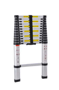 Single Straight Aluminum Telescopic Ladder 3.8m