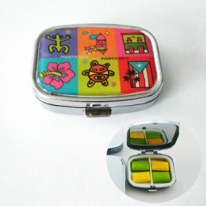 Promotional Gift Portable Mini 2 Slots Pill Box Medical Drug Medicine Storage Case Organizer