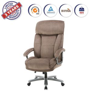 China Upholstered 400 Lbs High Capacity Big Tall Executive Office Chair With Adjustable Height Thick Padding Headrest And Armrest For Home Office Beige Ywa2004 China Executive Chair Office Chair