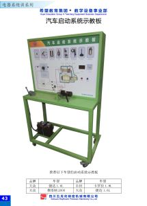 Automotive Start-up System Training Panel Teaching Educational Equipment pictures & photos