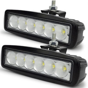 1700lm SUV Car Truck Work 6 LED Beam Aluminum Bar 18W Flood Light pictures & photos