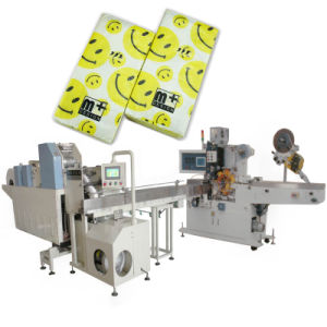 Tissue Paper Folding Embossing Packing Machine pictures & photos