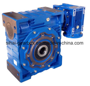 Double Worm Gearbox Nmrv150 with Nmrv075 Low Output Speed