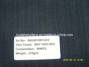 Wool Worsted Fancy Suiting Fabrics / Wool & Silk Fancy Suit Fabric / Men′s Uniform Fabric (AN24010812A/2)
