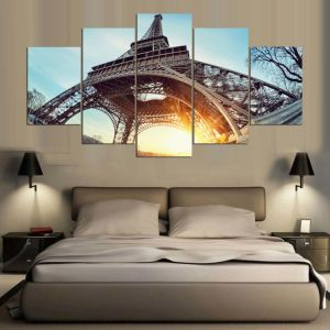Drop Shipping 5 Piece Tower Modern Home Wall Decor Canvas Picture Art HD Print Painting on Canvas Mc-165 pictures & photos