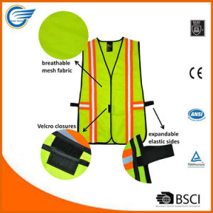 Industrial Safety Vest with Reflective Stripes Neon Lime Green Orange pictures & photos