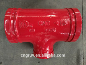 "4""*2 1/2"" Grooved Reducing Tee with FM and UL Certificate, Grooved Fitting pictures & photos"