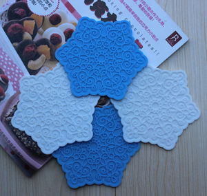 Star Shape Silicon Baking Mat Soft Silicon Lace Mat Heat Resistant Promotion Silicone Pad Coaster