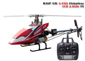 Flybarless RC Helicopter Wasp X3V 6CH 2 4G 3 Axis Gyro with Nasa701 LCD 7CH  2 4G Tx RTF