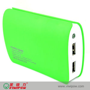 Hot Selling Dual USB Port Fasion Portable Power Bank (VIP-P13)