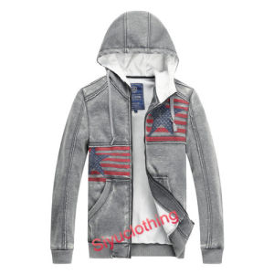 Mens 100%Cotton Hoodie National Flag Pattern Sweater (J-1624) pictures & photos