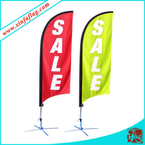 Portable Fiberglass Beach Flags with Spring Display