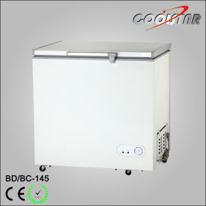 Mini Supermarket Single Top Open Foaming Door Chest Freezer pictures & photos
