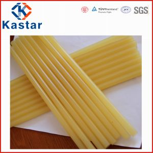 Pale Yellow Hot Melt Glue, EVA Hot Melt Adhesive pictures & photos