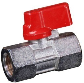 Forging Brass Mini Ball Valve with Aluminium Handle (YED-A1050)