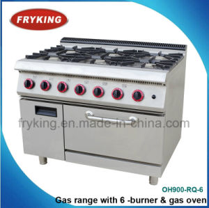 6-Burner Cooking Range with Gas Oven for Restaurant pictures & photos