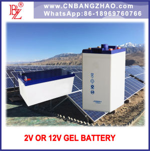Large Capacity 2500ah/3000ah 2V Gel Battery for off-Line System pictures & photos