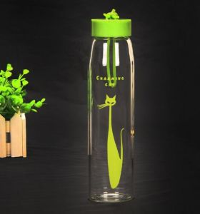 Colorful Creative Sport Bottle Portable Glass Travel Bottle Promotional Gift Cup pictures & photos