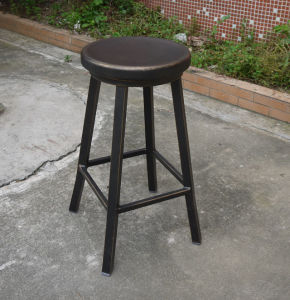 Commercial Emeco Aluminum Swivel Stool with Antique Finish