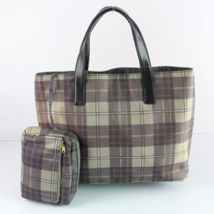 Grid Fashion Handbag (E23063-L)