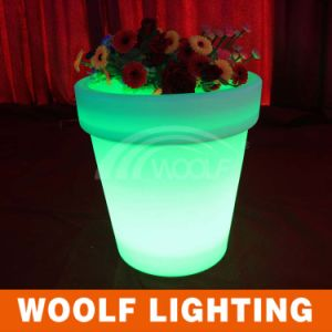 Outdoor Garden LED Light Plastic Luminous Flower Pot