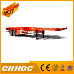 40FT 2axle Gooseneck Skeleton Container Semi-Trailer