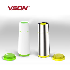 Promotional 370ml Stainless Steel Thermos with Holder for Camping