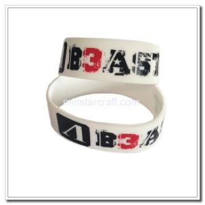 Customized Logo White Rubber Bracelet