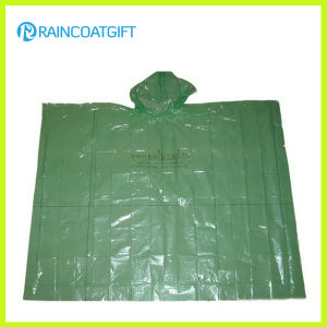 Cheap Clear Disposable PE Rain Poncho pictures & photos