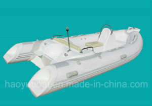 13.8ft Rib420c Recsue Boat with CE 4.2m Fiberglass Hul Rigidl Inflatable Boat pictures & photos