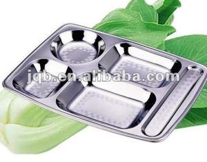 Warehouse Stock Stainless Steel Food Tray