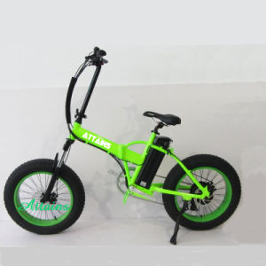 "20""*4.0inch 250W 350W Snow Mountain Lithium Battery Electric Folding Fat Tire Bike pictures & photos"