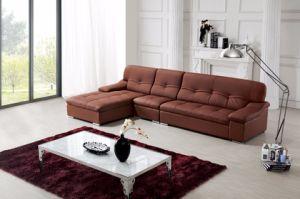 China Living Room Soft L Shape Leather Sofa - China Leather Sofa ...
