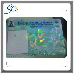 PVC Card with Hologram Overlay Film