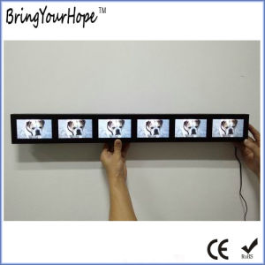 6 Screens in 1 Strip Digital Adavertising Player (XH-DPF-0436) pictures & photos