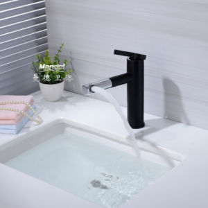Bathroom Waterfall Sink Vessel faucet Basin Square Mixer Tap Chrome Finished 8O