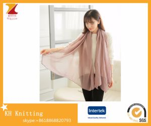 Women′s Long Cotton Scarf Shawl Dual-Use with Solid Color