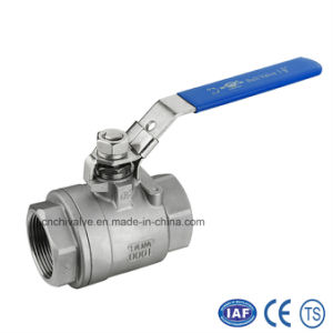 Stainless Steel 2PC Thread Full Bore Ball Valve pictures & photos