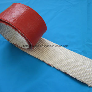 High Temperature Thermal Insulation Fireproof Silicone Coated Fiberglass Cloth Tape pictures & photos