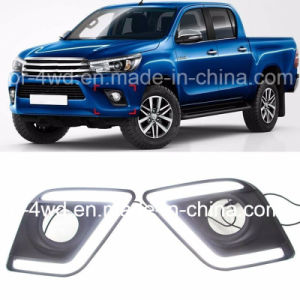 Hot LED Daytime Running Lights DRL for Toyota Hilux Revo 2015+ pictures & photos