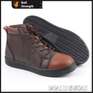 coffee Color Genuine Leather Outdoor Safety Shoe (SN5265) pictures & photos