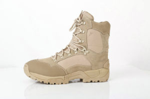 Anti-Stayic Flame Retardant Wearing-Resisting Beige Military Desert Boots pictures & photos