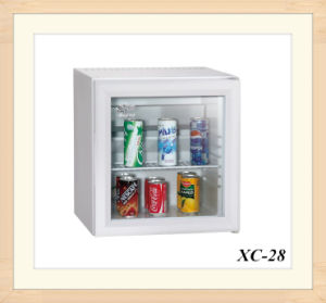 Popular Hotel Lock Option Clear Door Worktop Refrigerator 28L pictures & photos