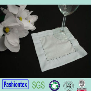 Cocktail Napkins White Linen Hemstitch Napkins pictures & photos