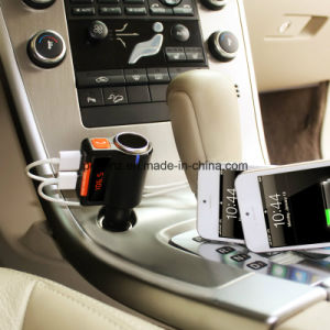 Bc09 Bluetooth Handsfree Car Kit with Cigarette Lighter Two USB Port pictures & photos