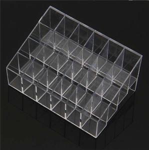 Makeup Cosmetics Lipstick Organizer Clear Acrylic 24 Drawers Display Box Storage pictures & photos